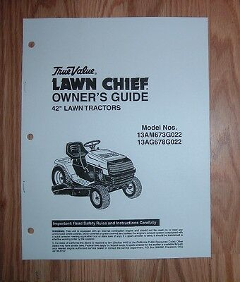 Mtd True  Value Lawn Chief 13Am673G022 13Ag678G022  Lawn Tractor Owners Manual