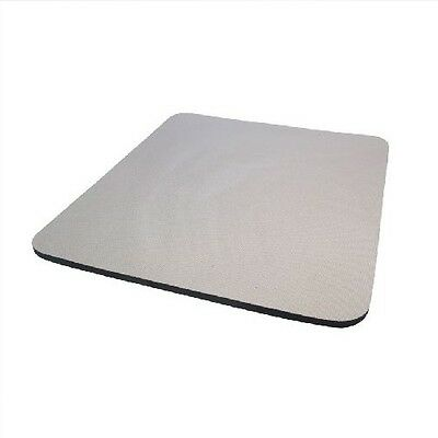 Grey Fabric Mouse Mat Pad High Quality 5mm Thick Non Slip Foam 25cm x 22cm