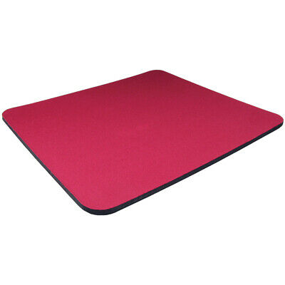 Red Fabric Mouse Mat Pad High Quality 5mm Thick Non Slip Foam 25cm x 22cm