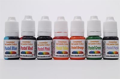 Classikool 10ml Pastel Edible Sugarpaste Dye Food Colouring for Cake Baking