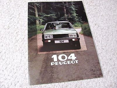 1980 Peugeot 104 Sales Brochure In English...