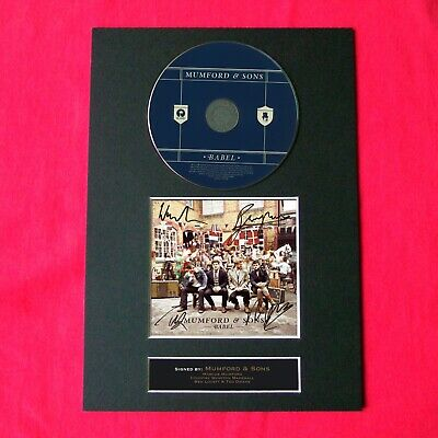 MUMFORD AND SONS Babel Signed CD COVER MOUNTED A4 Autograph Print 52