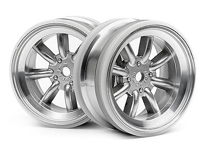 HPI Mx60 8 Spoke Wheel Matte Chrome (3mm Offset) #3938