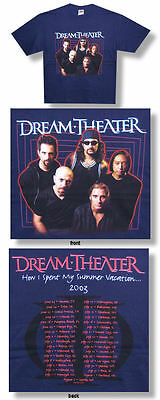 Dream Theater-NEW 2003 Concert Tour T Shirt-Large SALE FREE SHIPPING TO U.S.!