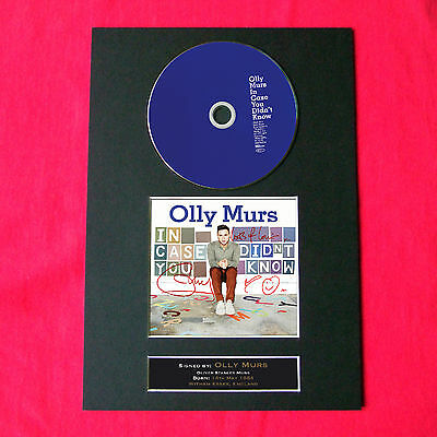 OLLY MURS Album Signed CD COVER MOUNTED A4 Autograph Repro Print 37