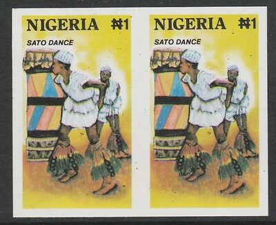 Nigeria 2710 - 1992 TRADITIONAL DANCES IMPERF PAIR  unmounted mint