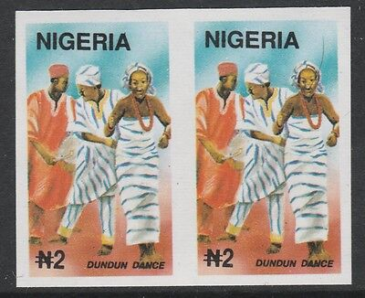 Nigeria 2712 - 1992 TRADITIONAL DANCES IMPERF PAIR  unmounted mint