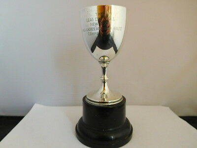 Quality English Sterling Silver Trophy Goblet - Leas Cliff Hall, Folkestone Kent