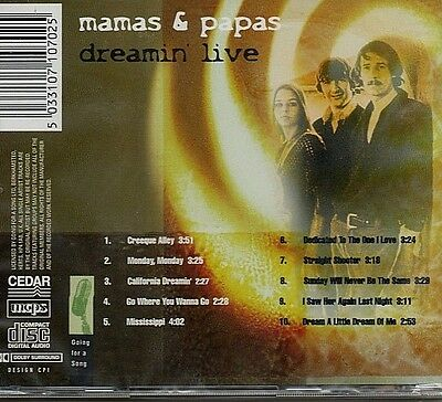 Mamas & Papas - Dreamin Live - Best Of - Cd New And Sealed