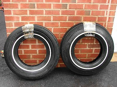 Vintage Nos Goodyear Marathon 8.55-15 White Wall1/2 Inch Tires Street Hot Rod