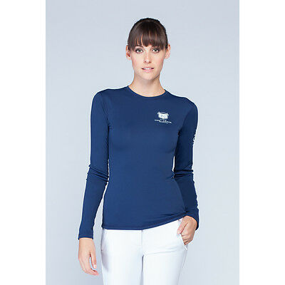 Asmar Logo Long Sleeve Fitness Tee - Navy Blue - Different Sizes