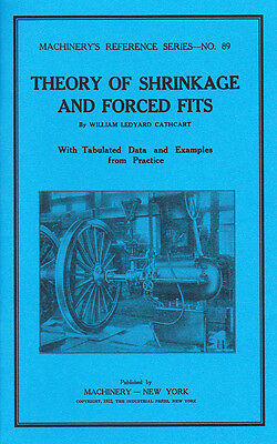Theory of Shrinkage and Forced Fits - 1912 Machinery's Reference - reprint