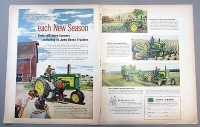 Original 1958 John Deere 730 Tractor Ad EACH NEW SEASON FINDS SWITCHING TO JD