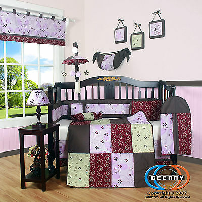 Baby Boutique Love Circle GEENNY 13PCS Nursery CRIB BEDDING SET
