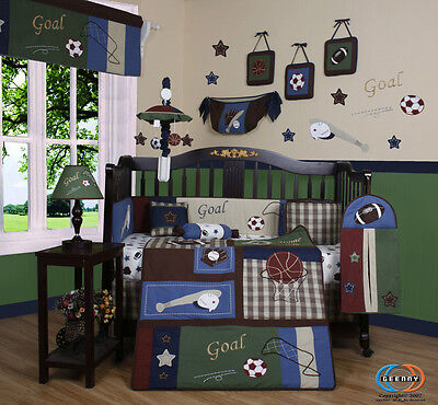 Baby Boutique Classic Sports GEENNY 13PCS Nursery CRIB BEDDING SET
