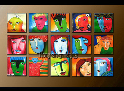Large MODERN ABSTRACT OIL PAINTING On Canvas Contemporary Wall Art Decor HY1205