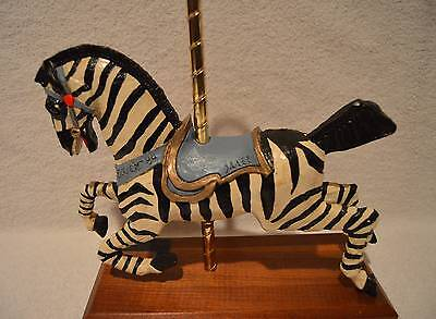 RARE PJ's Collectibles Carousel Collection Zebra Figurine 1984