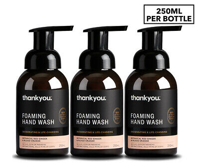 3 x Thankyou. Foaming Handwash Ginger & Blood Orange 250mL