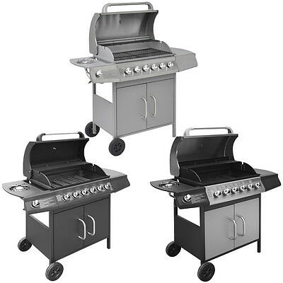 Gas Barbecue BBQ Grill 6+1 Burners Outdoor Garden Patio Party Cooking 3 Colours