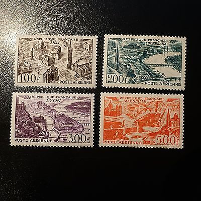 France Poste Aérienne Pa N°24/27 Neuf **  Luxe Mnh Cote 110€