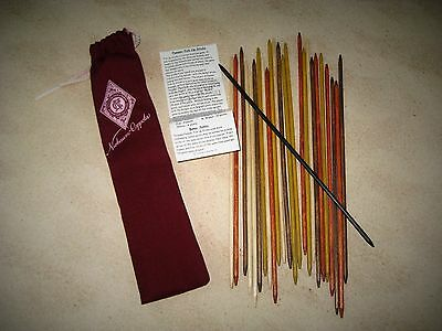Niebaum-Coppola Estate Vineyards Pick-Up-Sticks Game In Burgundy Canvas Bag NIP