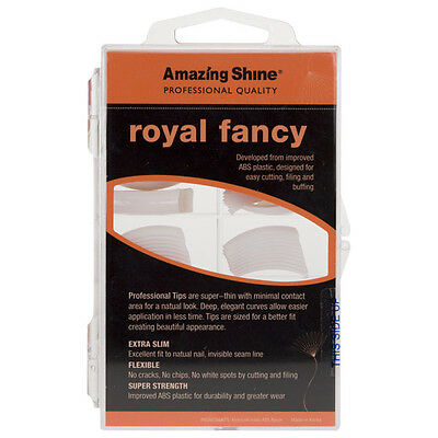 Amazing Shine Royal Fantaisie 100 Bouts Faux Ongles - French Manucure Blanc