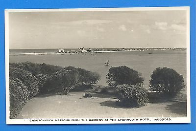 Christchurch Harbour From The Gardens Of The Avonmouth Hotel,mudeford.postcard