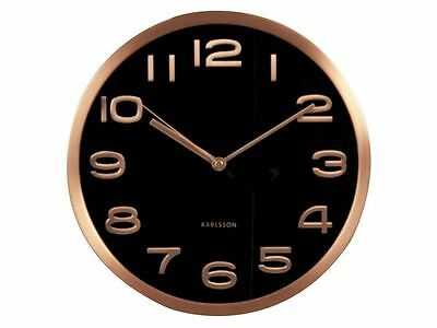Karlsson Maxie Wall Clock Black Designer Contemporary Modern Stylish Timepiece