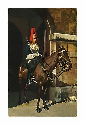 Blues & Royals Horse Guard Household Cavalry Mounted Sentry Whitehall Postcard