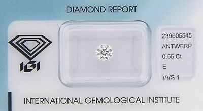 Diamond 0,55ct E VVS 1