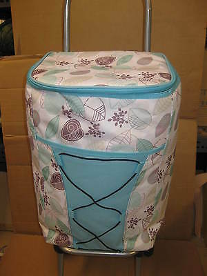 Large Shopping Trolley Fully Insulated Cool Bag Cooler 8 Hrs Picnic Camping 4649