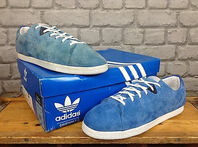 cheaper 7be81 26e24 Adidas Mens Uk 9 Eu 43 1 3 Blue Suede Azzie Lo Trainers Rrp £