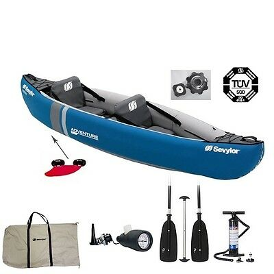 Sevylor Adventure Kajak Luftboot Set + Paddelkombination und Pumpe
