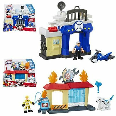 Transformers Rescue Bots Griffin Rock POLICE STATION, FIRE STATION