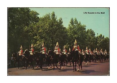 Life Guards In The Mall - London Household Cavalry Mounted Regiment Posted 1967