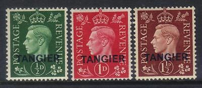 Tangier 1937 Optd M/m Set Of 3 Cat £37+