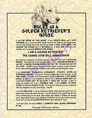 Rules In A Golden Retriever's House