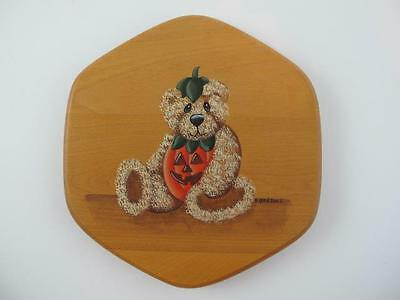 """Longaberger 7"""" Generations Basket Lid Hand Painted BEAR by Basket Accessories"""