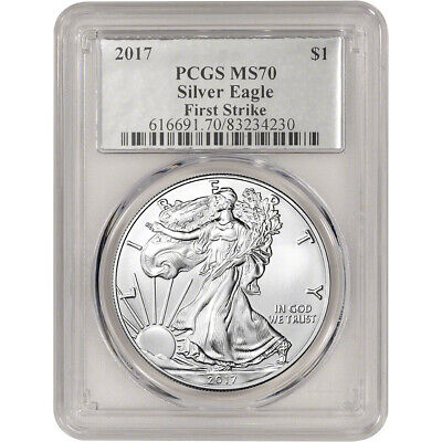 2017 American Silver Eagle - PCGS MS70 - First Strike - Silver Foil Label
