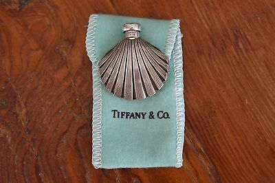 Vintage Authentic Tiffany & Co. Sterling Silver Shell Shaped Perfume Bottle Rare