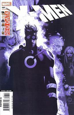 X-MEN #197 NM, 2nd Series, Red Data Part 1, Direct edition, Marvel Comics 2007