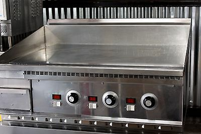 "36"" CHROME Flat Griddle KEATING MIRACLEAN Grill 3/4"" thick TOP BREAKFAST EGGS"
