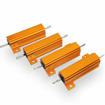 US Stock 4pcs 8 ohm 8 50W Watt Aluminum Housed Metal Case Wirewound Resistors
