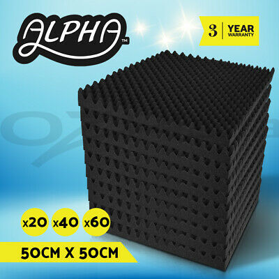 50X50CM Acoustic Foam Panels Tiles Studio Home Adhesive Tape DIY Pro Audio Sound