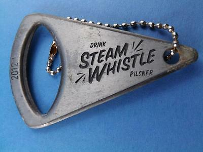 Steam Whistle Pilsner Beer Bottle Opener Keychain Collector Brewery Advertising