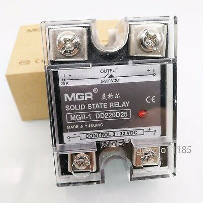 US Stock 25A Solid State Relay SSR DC-DC Input 3-32V DC Load 5-220V ​DC DD220D25