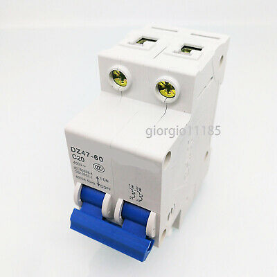 New DZ47-60 C20 2P 20A Rated Current 3 Pole Miniature Circuit Breaker