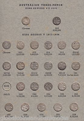 Australia - Complete Threepence & Sixpence Set - ( ex 1922/1 3d) in Album /2