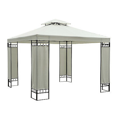 Outsunny 10'x10' Square2-Tier Gazebo Canopy Replacement Waterproof UV Protected