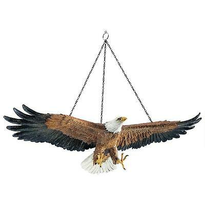 American Spirit National Emblem Bald Eagle In Flight Freedom Hanging Sculpture